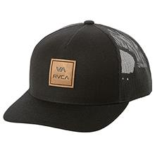 [From USA]RVCA Men's Va All The Way Curved Brim Trucker Hat (Black)
