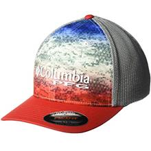 [From USA]Columbia PFG Camo Mesh Ball Cap (Americana Fade Camo)