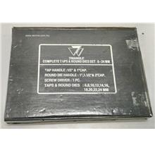 TRIANGLE M6-M24 HSS THREADING SET IN CASE 46-PCE ( TDM6M24 )