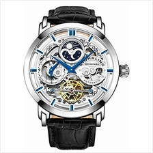 [From USA]Stuhrling Original Mens Automatic-Self-Wind Luxury Dress Skeleton Du