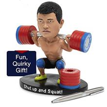 [Good Choice]Crossfit Bobble Head & Cute Pen Holder for Desk - Funny Cubi