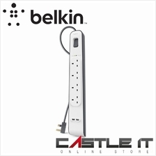 BELKIN BSV401SA2M EXTENSION SOCKET SURGE PROTECTOR 4-PLUGS WITH 2-USB