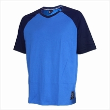 EXTREMA BIG SIZE V-NECK SHORT SLEEVE TEE (EXBT-07B) ROYAL BLUE EX1048