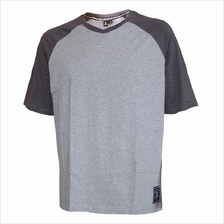 EXTREMA BIG SIZE V-NECK SHORT SLEEVE TEE (EXBT-07B) GREY EX1048
