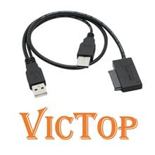 USB 2.0 to SATA II 7+6 13Pin Adapter Converter Cable for Laptop CD DVD