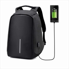 Anti-Theft Laptop Travel Backpack with USB Plug Charging port (black)