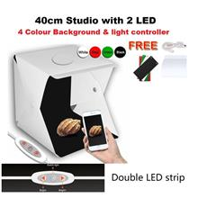 Portable Foldable Mini Studio 40cm LED Light Room 4 Colour Background