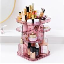 Large Acrylic Makeup 360 Degree Rotating Cosmetic Storage Case Rack