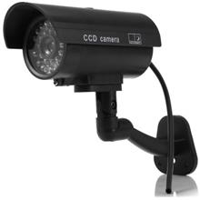 Small Dummy Camera CCTV Sticker Surveillance 90 Degree Rotating with F..