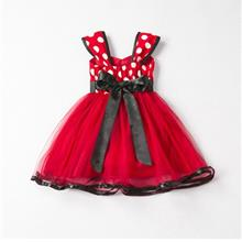 Cute Princess Puff Dress Dot Snet Yarn Dress