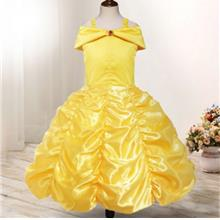 Cute Princess Yellow Dress off The Shoulder Girl Dress