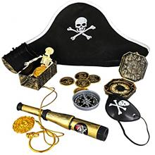 [Good Choice]Juvale 100-Count Kids Pirate Favor Toys and Accessories Set Birth
