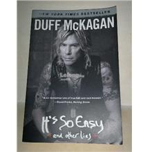 DUFF MCKAGAN - IT'S SO EASY & OTHER LIES BOOK GUNS & ROSES