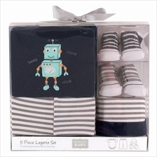 Hudson Baby Layette Box Set 5pc 58116 0-3M