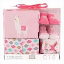 Hudson Baby Layette Box Set 5pc 58117 0-3M