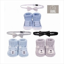 Bebe Comfort 2 Pc Bowtie  & Handmade Booties Set