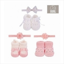 Bebe Comfort 2 Pc Handmade Booties N Headband Set