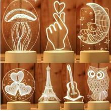 Strange New Jellyfish Night Light Warm Light Solid Color for Gift USB
