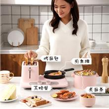 Donlim Toast Three-in-One Multi-Function Small Toaster Breakfast Machi..