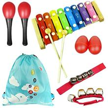 [Good Choice]KF baby kilofly Mini Band Musical Instruments Value Pack Xylophon