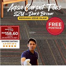 CARPET TILES DARK BROWN SZU02