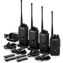 [From USA]Upgraded BaoFeng Walkie Talkies 4 Pack Long Range Two Way Radio UHF