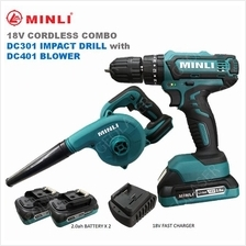 MINLI 18V COMBO : CORDLESS IMPACT DRILL/DRIVER & CORDLESS HAND BLOWER