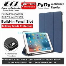 PsDs Military Protection Smart Cover Case with Pencil Holder iPad 10.2