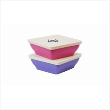 Tupperware Zen Square Small (2) 200ml - Pink  & Purple