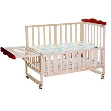 Extendable Baby cot katil bayi infant bed mattress cradle wood stable
