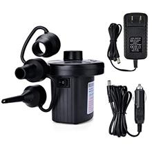 [From USA]Electric Air Pump Portable Quick-Fill Air Pump with 3 Nozzles 110V A