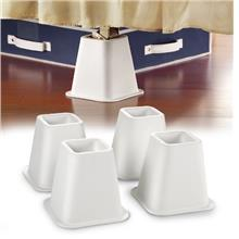 [From USA]#1 Best Selling Simplify - 4-Count 6 inch Bed Riser With Wheel Caste