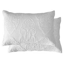 [From USA]Brandream White Paisley Quilted Pillow Shams Standard Size Pillow Ca