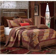 [From USA]Montana Cabin Red/Tan Quilt Set Queen