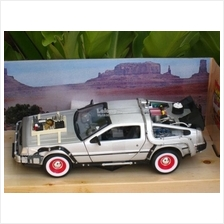 Welly 1/24 Diecast Car Delorean Time Machine Back To The Future III