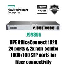 HP OfficeConnect 1820 24G Switch w/2x non-combo SFP For Fiber (J9980A)
