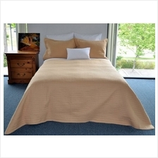 [From USA]Natural Comfort Luxury Lines Quilt Coverlet Full Honey Gold (Honey G