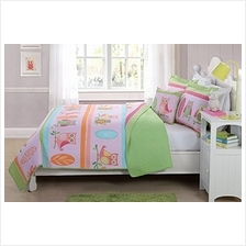 [From USA]Mk Collection 4pc Full Size Reversible Coverlet Bedspread Set Owls L