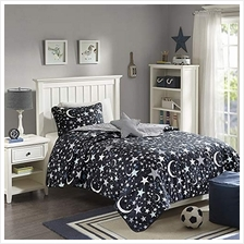 [From USA]JLA Home INC Starry Night Coverlet Set Full/Queen Charcoal (Charcoal