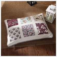 [From USA]DaDa Bedding VE-JHW-618-Q Burgundy Floral Patchwork Quilted Bedsprea