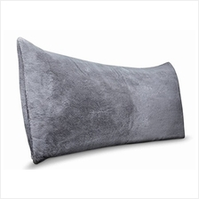 [From USA]Room Essentials Body Pillow Cover Grey Faux Fur Super Soft- 20 in x