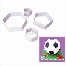 Football Cutters - Hexagon and Pentagon - Set of 4