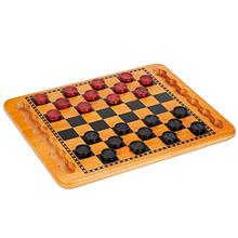 [Good Choice]WE Games Solid Wood Checkers Set - Red  & Black Traditional S