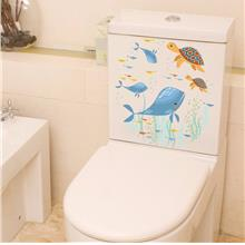 Cute animals toilet sticker waterproof pvc bathroom stiker home decor