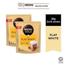 Nescafe Gold Flat White 15 Sticks 20g Bundle of 2)