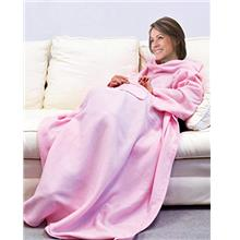 [From USA]Deluxe Fleece Blanket with Sleeves and Pockets Super Soft Stylish Mi