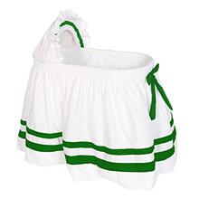 [From USA]Baby Doll Bedding Bedding Modern Hotel Style II Bassinet Skirt Green