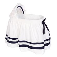 [From USA]Baby Doll Bedding Modern Hotel Style II Bassinet Skirt Navy (Navy)
