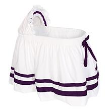 [From USA]Baby Doll Bedding Modern Hotel Style II Bassinet Skirt Plum (Plum)