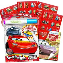 [Good Choice]Disney Cars Imagine Ink Coloring Book Set for Toddlers Kids ^^ Me